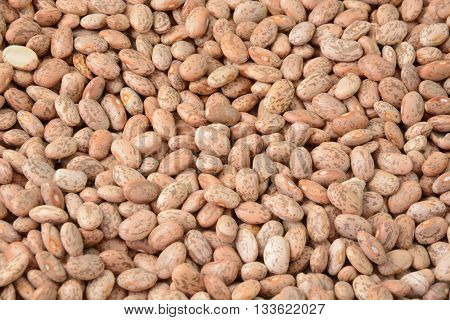 Heap of raw uncooked dry pinto beans