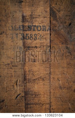old storage - wooden background