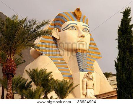 Sphinx at Luxor Hotel Las Vegas - LAS VEGAS, NEVADA, USA. May 8, 2016