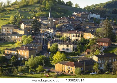 Village Of Ville Sur Jarnioux, Beaujolais, France