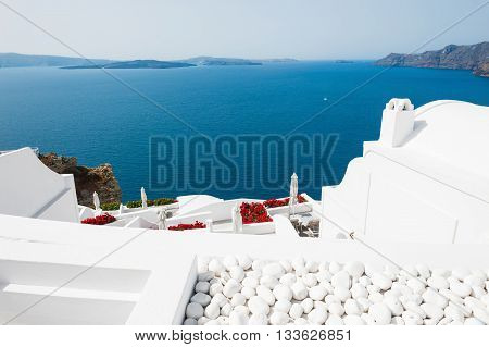 Beautiful View Of Santorini Island, Greece.