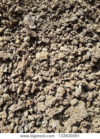 close up dry cracked soil texture background