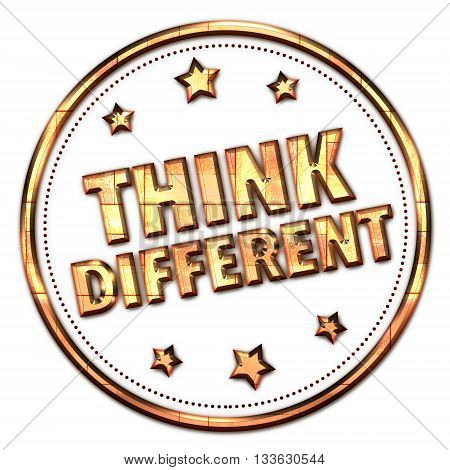 Think Different word on white - background
