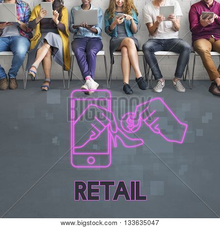 Retail Sell Merchandiser Shopping Pay Concept