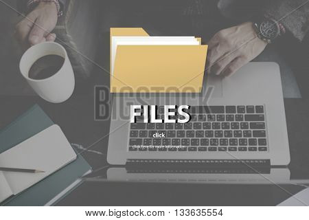Files Folder Data Document Storage Concept