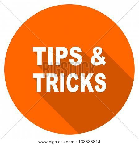 tips tricks vector icon, circle flat design internet button, web and mobile app illustration