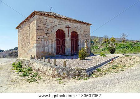 Hermitage of Santo Cristo in Curiel de Duero province of Valladolid Spain