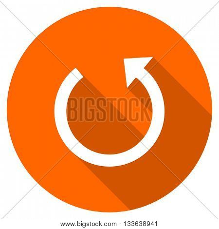 rotate vector icon, circle flat design internet button, web and mobile app illustration