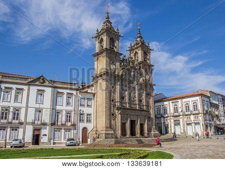BRAGA, PORTUGAL - APRIL 26, 2016: Holy cross church in the center of Braga, Portugal