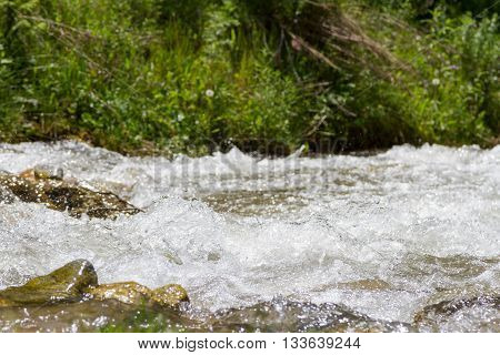 Clear Water In The River