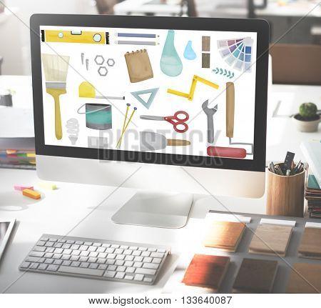 Tools Craftsmen Hobby Equipment Concept