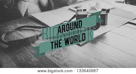 Around the World Bon Voyage Travel Destination Journey Concept