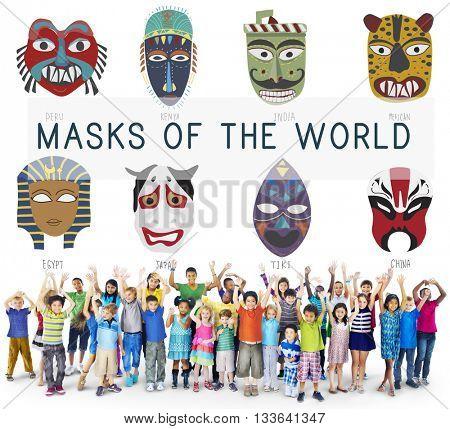 Cultural Traditional Masks Global Concept
