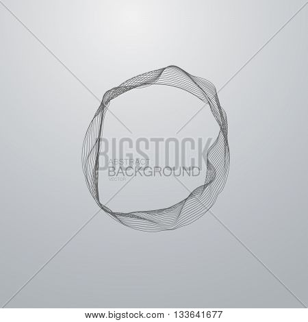 Vector wire frame. Vector technology illustration of distorted wire frame