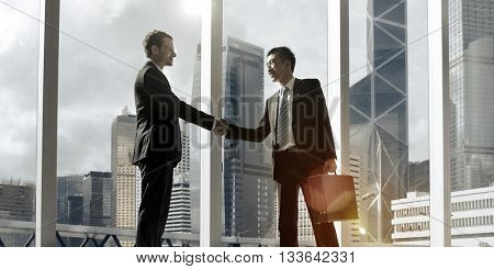 Diverse Ethnicity Businessman Greeting Concept