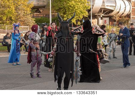 Cosplayers Dressed As Characters From Game World Of Warcraft