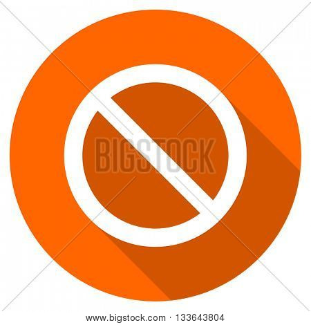 access denied vector icon, circle flat design internet button, web and mobile app illustration