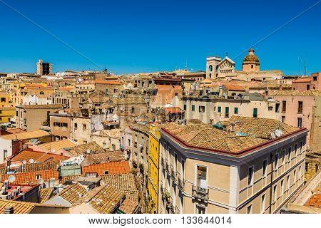 Roofs Of Cagliari In Sardegna