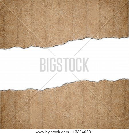 Background made of torn cardboard paper and white text space
