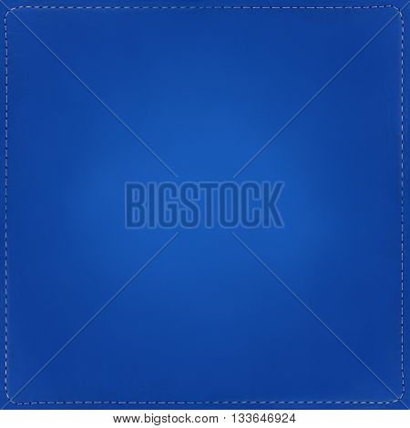 Blue textile background, pattern with seams around.
