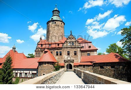 Castle Czocha from 13th century placed in Poland Lower Silesia province