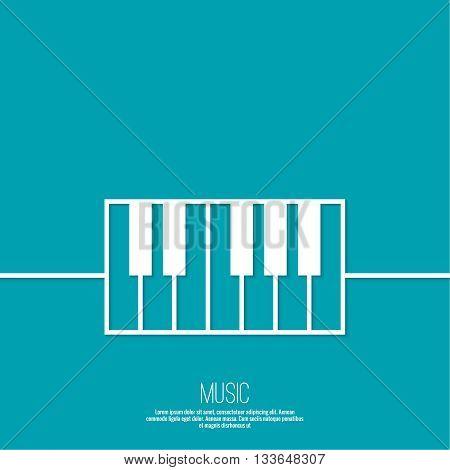 Icon piano keys. Vector symbol Lineart design