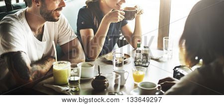 Cafe Coffee Enjoyment Happiness Relaxation Concept
