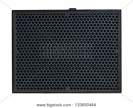 Carbon Air Filter For Hvac System. Isolated On White Background.