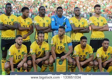 Jamaica National Team Players During Copa America Centenario