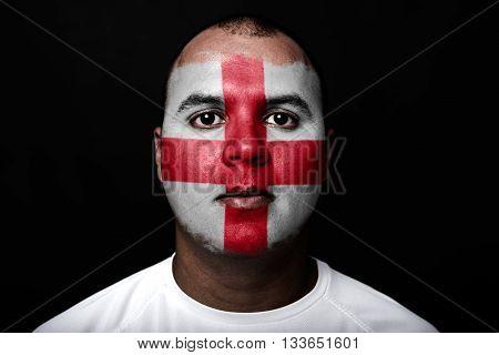 Man With England Flag