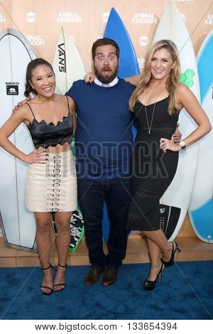 LOS ANGELES - JUN 8:  Ally Maki, Brian Sacca, Jessica Lowe at the Animal Kingdom Premiere Screening at the The Rose Room on June 8, 2016 in Venice Beach, CA