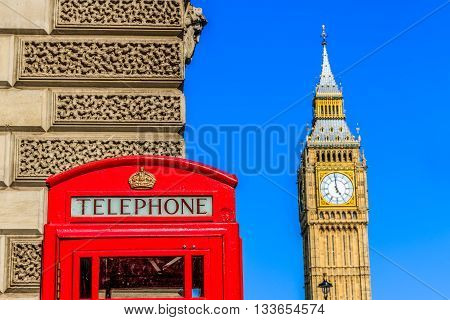 Iconic Red Telephone Box