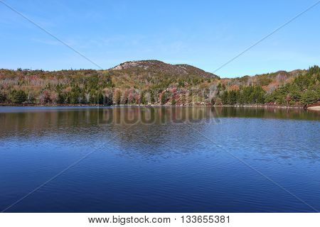 Reflection in the Bowl, while hiking the Gorham Trail, Acadia National Park, Maine, USA