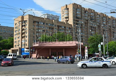 Moscow, Russia - June 03.2016. General view of the street Krasnoprudnaya