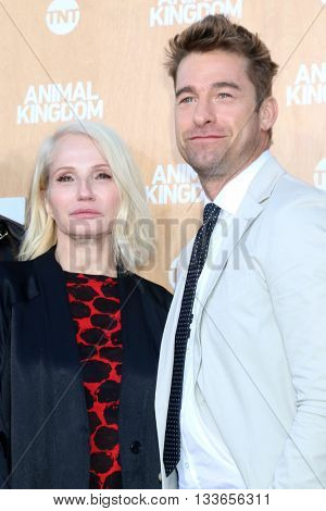 LOS ANGELES - JUN 8:  Ellen Barkin, Scott Speedman at the Animal Kingdom Premiere Screening at the The Rose Room on June 8, 2016 in Venice Beach, CA