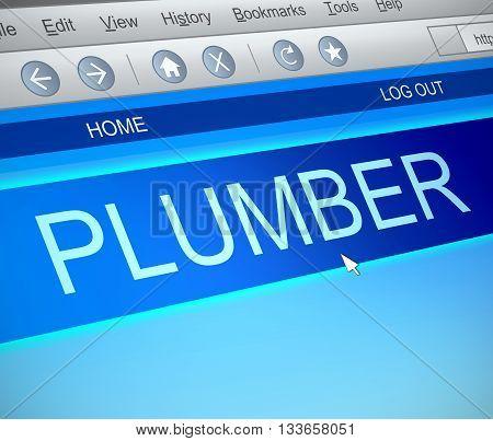 Plumber Online Concept.