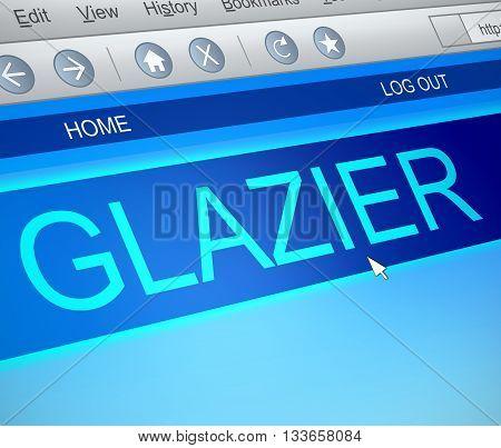 Glazier Online Concept.