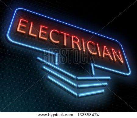 Electrician Online Concept.