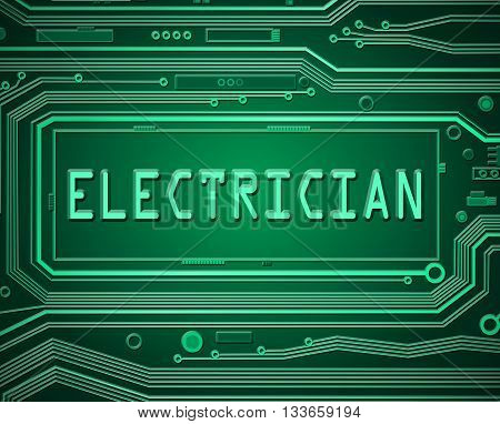 Electrician Technology Concept.