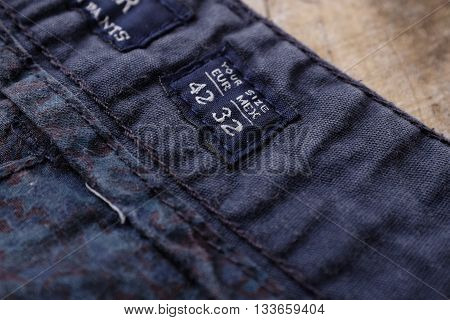 Empty garment and clothing tags and labels