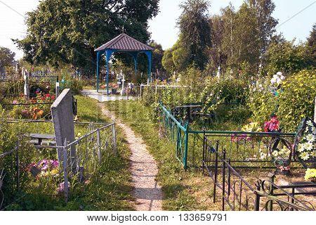 Turov, Belarus - 28 June 2013: A Healing Stone Growing Cross. A Place Of Pilgrimage June 28, 2013 In