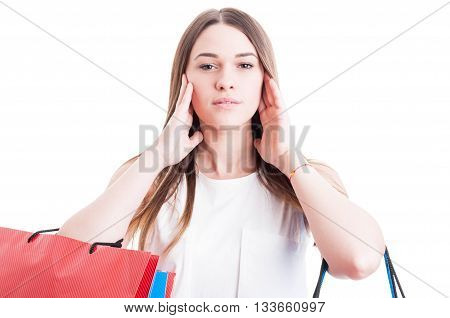 Beautiful Woman Covering Her Ears With Both Hands