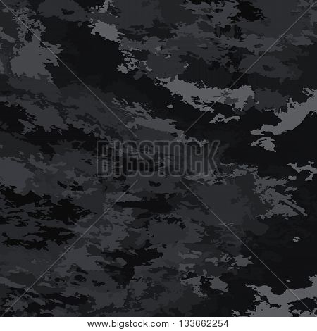 Abstract background vector-black spots. Black background camouflage.