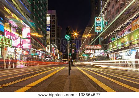 Public Transport Lights On The Street