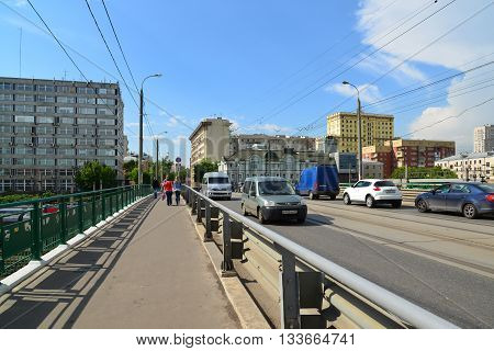 Moscow, Russia - June 03.2016. General view of a Krasnoselski overpass