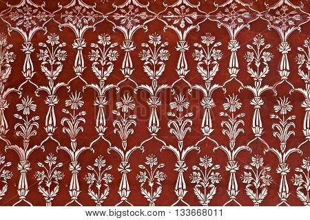 Detail Of Decorating The Taj Mahal