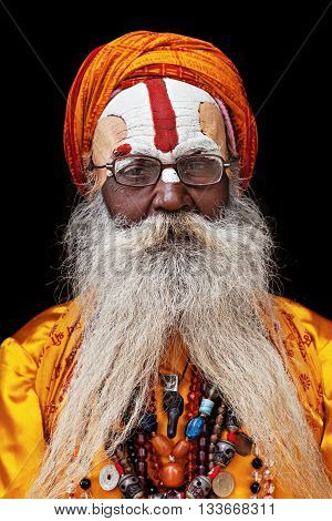 Sadhu At Pashupatinath Temple