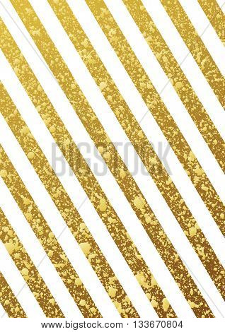 Gold glittering seamless lines pattern on white background. Gold diagonal lines pattern. Gold background. Gold frame. Raster copy design