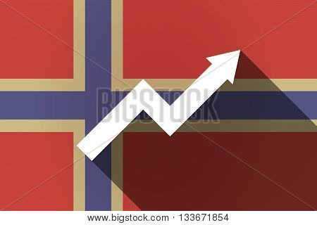 Long Shadow Norway Flag With A Graph
