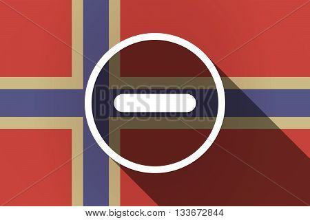 Long Shadow Norway Flag With A Subtraction Sign